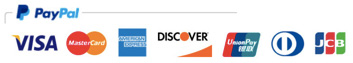 We accept VISA Master Amex Discover Union Pay Diners and JBC