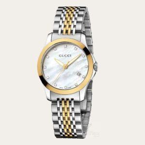 GUCCI G-Timeless Diamond Ladies Watch YA126513